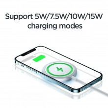 JOYROOM JR-A41 MAGNETIC MAGSAFE WIRELESS CHARGER 15W SILVER