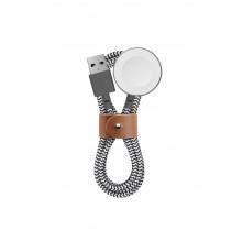 Native Union Belt Watch - kabel do Apple Watch  ze skórzanym zapięciem 1,2m (zebra)