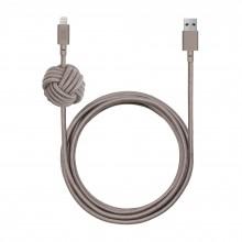 Native Union Night Cable - kabel Lightning z węzłem, 3m (taupe)
