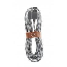 Native Union Belt Cable - kabel Lightning ze skórzanym zapięciem 3m (zebra)