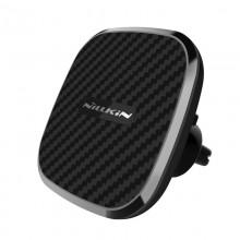 Nillkin Car Magnetic Wireless Charger - Magnetyczny uchwyt samochodowy na kratkę nawiewu z ładowarką indukcyjną Qi, 10W (Black-B