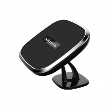 Nillkin Car Magnetic Wireless Charger - Magnetyczny uchwyt samochodowy na kokpit z ładowarką indukcyjną Qi, 10W (Black-C)