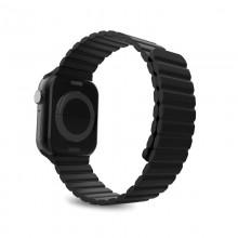 PURO ICON LINK - Magnetyczny pasek do Apple Watch 38 / 40 mm (S/M) (czarny)