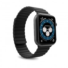 PURO ICON LINK - Magnetyczny pasek do Apple Watch 42 / 44 mm (M/L) (czarny)