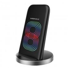 Momax Q.Dock2 Dual Coil - Bezprzewodowa ładowarka indukcyjna Qi do iPhone i Android, 10 W (czarny)