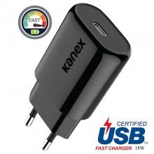 Kanex GoPower - Ładowarka sieciowa USB-C (Power Delivery) 18 W (Black)
