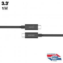 Kanex USB-C ChargeSync Cable - Kabel USB-C do ładowania & synchronizacji danych, 5.0 A, 10 Gbps, 1 m (Black)