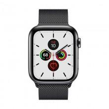 Crong Milano Steel - Pasek ze stali nierdzewnej do Apple Watch 38/40 mm (czarny)