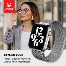 Crong Milano Steel - Pasek ze stali nierdzewnej do Apple Watch 38/40 mm (złoty)