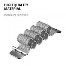 Crong Milano Steel - Pasek ze stali nierdzewnej do Apple Watch 42/44 mm (czarny)