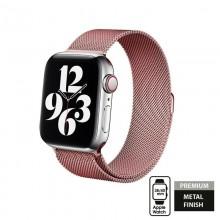 Crong Milano Steel - Pasek ze stali nierdzewnej do Apple Watch 38/40 mm (różowe złoto)