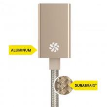 Kanex przejściówka DuraBraid™ Aluminium z USB-C na USB 3.0 typ A (Gold)