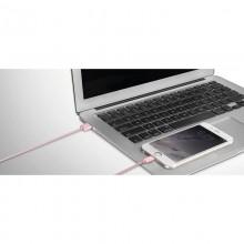 Momax Elite link - Kabel połączeniowy USB do Lightning MFi + elastyczny stojak, 2.4 A, 1 m (Silver)