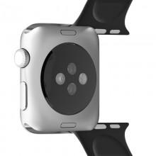 PURO ICON - Elastyczny pasek sportowy do Apple Watch 38 / 40 mm (S/M & M/L) (czarny)