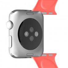 PURO ICON - Elastyczny pasek sportowy do Apple Watch 38 / 40 mm (S/M & M/L) (Living Coral)