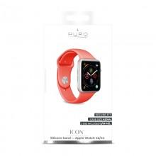 PURO ICON - Elastyczny pasek sportowy do Apple Watch 42 / 44 mm (S/M & M/L) (Living Coral)