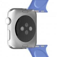 PURO ICON - Elastyczny pasek sportowy do Apple Watch 42 / 44 mm (S/M & M/L) (niebieski)