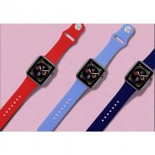 PURO ICON - Elastyczny pasek sportowy do Apple Watch 42 / 44 mm (S/M & M/L) (czerwony)