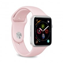 PURO ICON - Elastyczny pasek sportowy do Apple Watch 42 / 44 mm (S/M & M/L) (piaskowy róż)