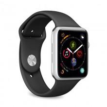 PURO ICON - Elastyczny pasek sportowy do Apple Watch 42 / 44 mm (S/M & M/L) (czarny)