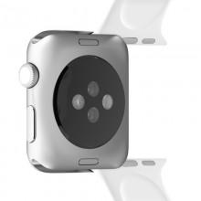 PURO ICON - Elastyczny pasek sportowy do Apple Watch 42 / 44 mm (S/M & M/L) (biały)