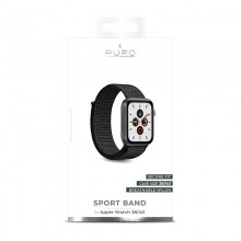 PURO Nylon - Pasek do Apple Watch 38 / 40 mm (Czarny)