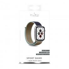 PURO Nylon - Pasek do Apple Watch 42 / 44 mm (Khaki/Granatowy)