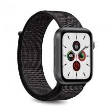 PURO Nylon - Pasek do Apple Watch 42 / 44 mm (Czarny)