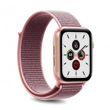 PURO Nylon - Pasek do Apple Watch 42 / 44 mm (Różowy)