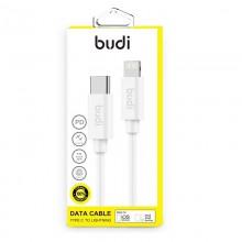 Budi - Kabel USB-C - Lightning z technologią PD, MFi, 1 m (Biały)