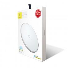 Baseus Simple - Bezprzewodowa ładowarka indukcyjna Qi do iPhone i Android, 10 W (biały)