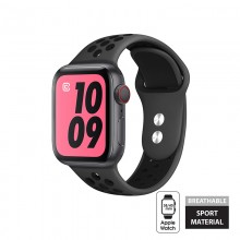 Crong Duo Sport - Pasek do Apple Watch 38/40 mm (szary/czarny)