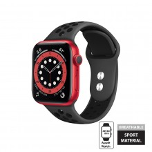 Crong Duo Sport - Pasek do Apple Watch 42/44 mm (szary/czarny)