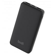 Budi - Power bank 10 000 mAh 2x USB, 1x USB-C (Czarny)