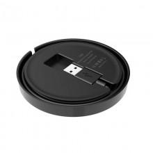 Budi - Ładowarka bezprzewodowa Qi 10W + wbudowany kabel (Czarny)