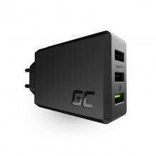 Green Cell ChargeSource 3 - Ładowarka sieciowa 3xUSB 30W Ultra Charge, Smart Charge