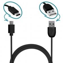 PURO Plain - Kabel USB-C 2.0 na USB-A 2.0 do ładowania & synchronizacji danych, 2A, 480 Mbps, 1m (czarny)