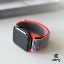 Crong Nylon - Pasek sportowy do Apple Watch 38/40 mm (Electric Pink)