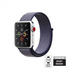 Crong Nylon - Pasek sportowy do Apple Watch 38/40 mm (Midnight Blue)