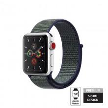 Crong Nylon - Pasek sportowy do Apple Watch 38/40 mm (Midnight Fog)