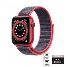 Crong Nylon - Pasek sportowy do Apple Watch 42/44 mm (Electric Pink)