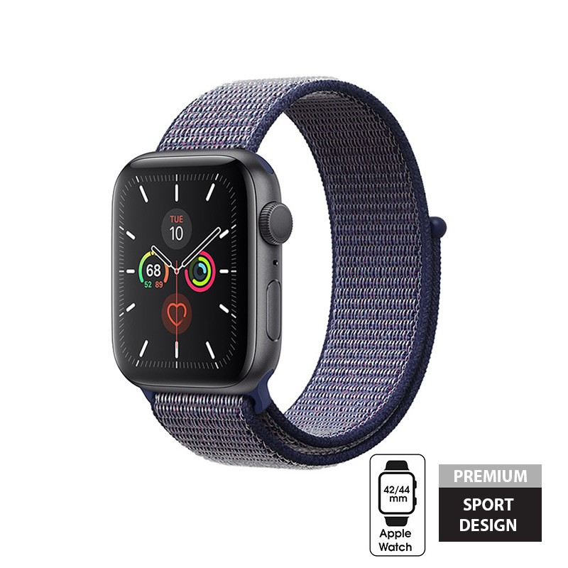 Crong Nylon - Pasek sportowy do Apple Watch 42/44 mm (Midnight Blue)