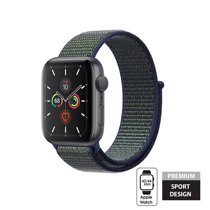 Crong Nylon - Pasek sportowy do Apple Watch 42/44 mm (Midnight Fog)