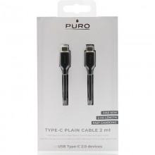 PURO Plain Type-C Cable Fast Charging - Kabel USB-C 2.0 na USB-C 2.0, 2A, 60W, 2 m (czarny)