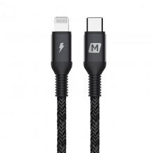 Momax Elite link - Przewód z USB-C (Power Delivery Fast Charging 3A) na Lightning MFi 1,2 m (Black)