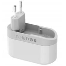 Budi - Ładowarka sieciowa 3x USB, 24W, składana wtyczka (Biały)