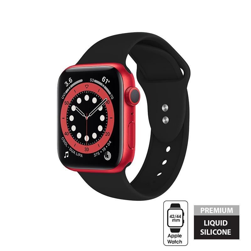 Crong Liquid - Pasek do Apple Watch 42/44 mm (czarny)