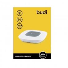 Budi - Ładowarka bezprzewodowa Qi oraz + porty USB (Biały)