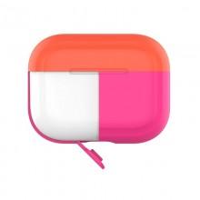PURO ICON Fluo Case - Etui do Airpods Pro z dodatkową osłonką (Fluo Fuchsia + Fluo Orange Cap)