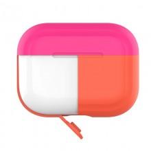 PURO ICON Fluo Case - Etui do Airpods Pro z dodatkową osłonką (Fluo Orange + Fluo Fuchsia Cap)